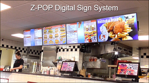 Z-POP Digital Sign